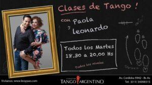 Clases de tango. En Fundación Tango Argentino.